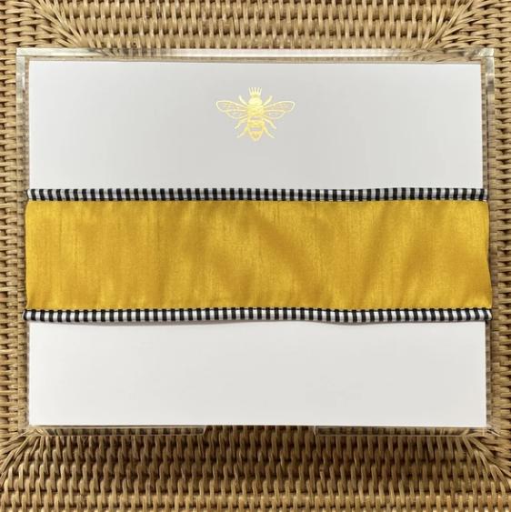 Black Ink Gold foil Buck Bee Pad