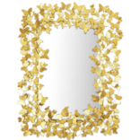 Two's Company Golden Butterfly Galore Wall Mirror - Metal/Glass
