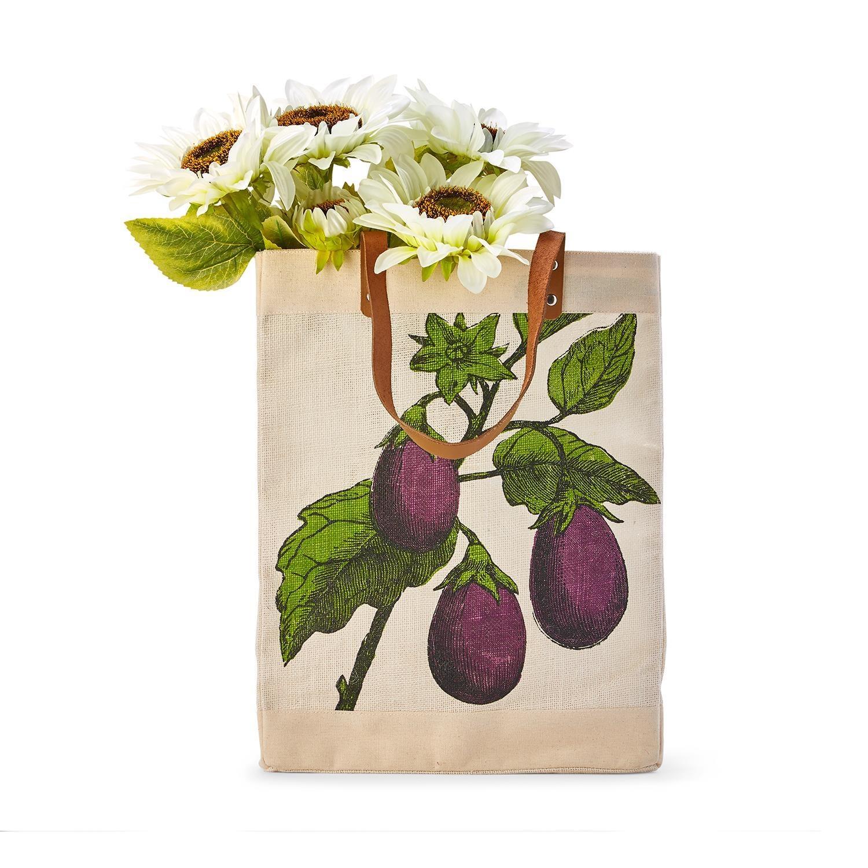 Two's Company Market Tote Bag - Eggplant
