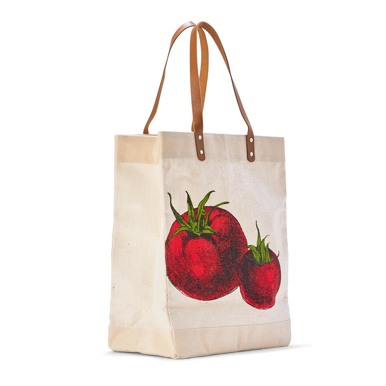 Two's Company Market Tote Bag - Tomato