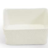 Two's Company Basketweave Tidbit Dish - Square
