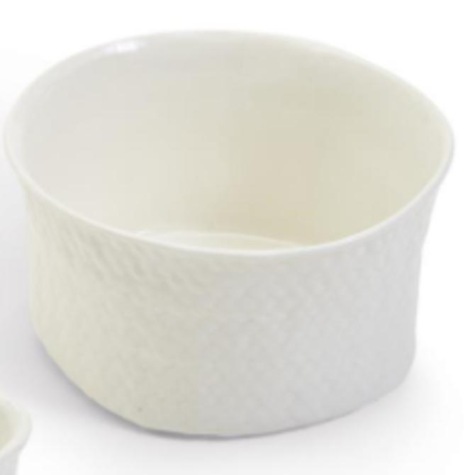Two's Company Basketweave Tidbit Dish - Round