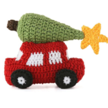 Melange Car with Christmas Tree Ornament