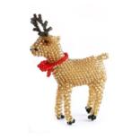 Melange Reindeer Ornament - Gold