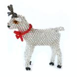 Melange Reindeer Ornament - Silver