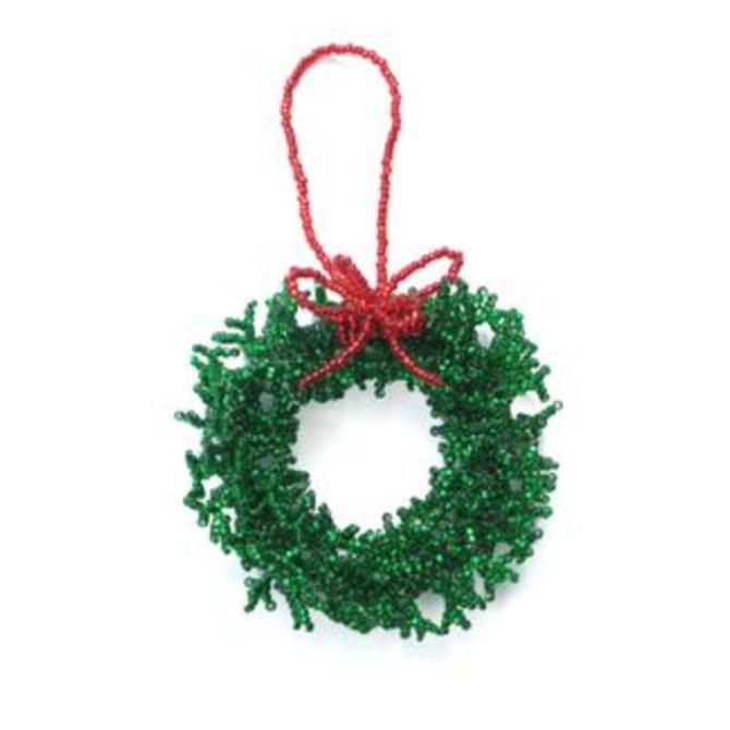 Melange Green Wreath Ornament