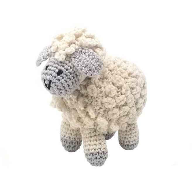 Melange Little Crochet Lamb - Ecru