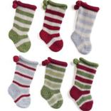 Melange Tiny Stocking Ornaments