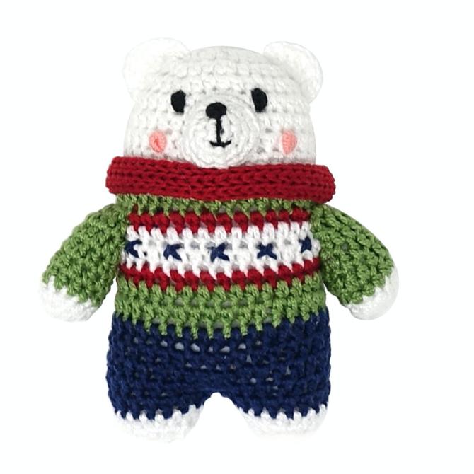 Melange Crochet Polar Bear Ornament