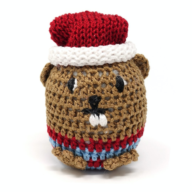 Melange Crochet Beaver Ornament