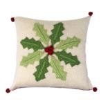 """Melange 10"""" Holly Pinwheel Pillow"""