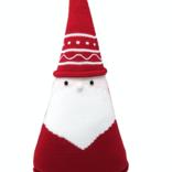 """Melange Santa Cone Pillow 15"""" Red"""