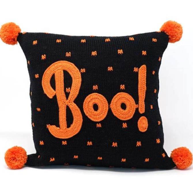 """Melange Boo 10"""" Halloween Pillow"""