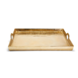 Two's Company Gold Hotel De Ville Decorative Square Tray Recycled Aluminum