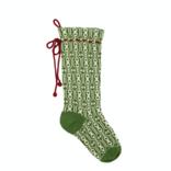 Melange Green Patterned Stocking