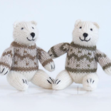 Melange Polar Bear in Sweater Ornaments