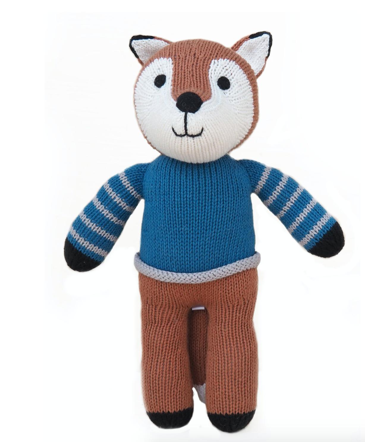Melange Fox in Blue Sweater