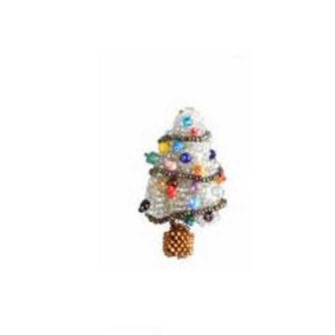 Melange Xmas Tree Ornament Silver