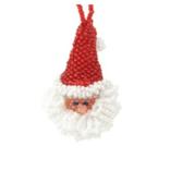 Melange Santa Head Ornament