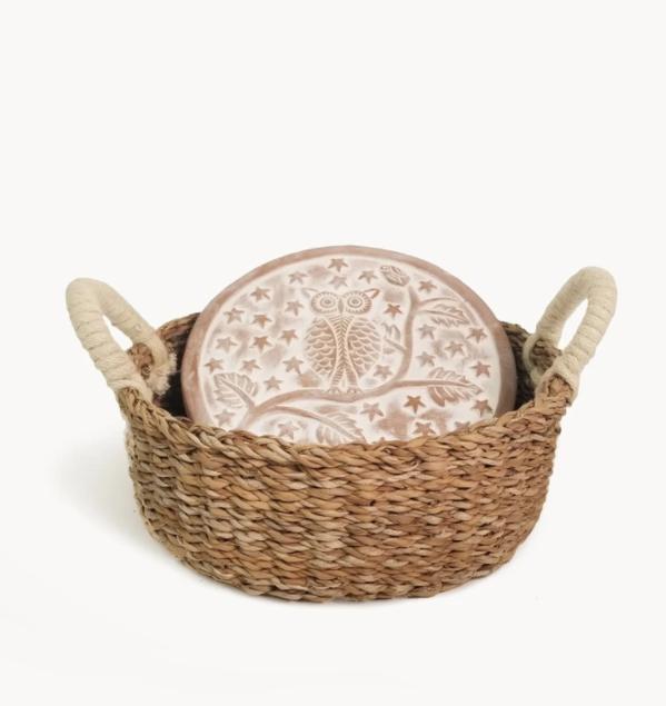 Korissa Bread Warmer & Basket - Owl Round