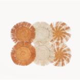 Korissa Flor Coaster Natural - Set of 6