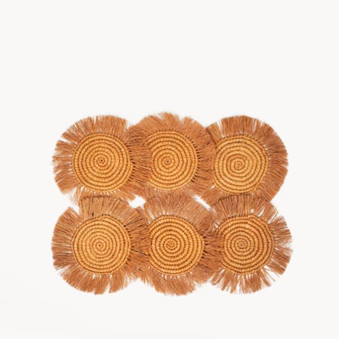 Korissa Flor Coaster Marigold - Set of 6