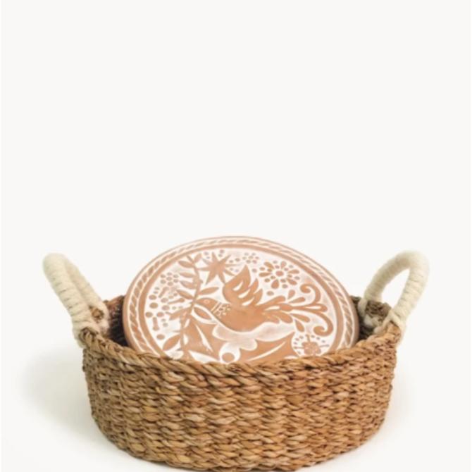 Korissa Bread Warmer & Basket - Bird Round