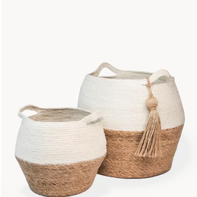 Korissa Agora Jar Basket Natural - Large