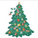 Two's Company Christmas Tree Shape 500 Pc Jigsaw Puzzle