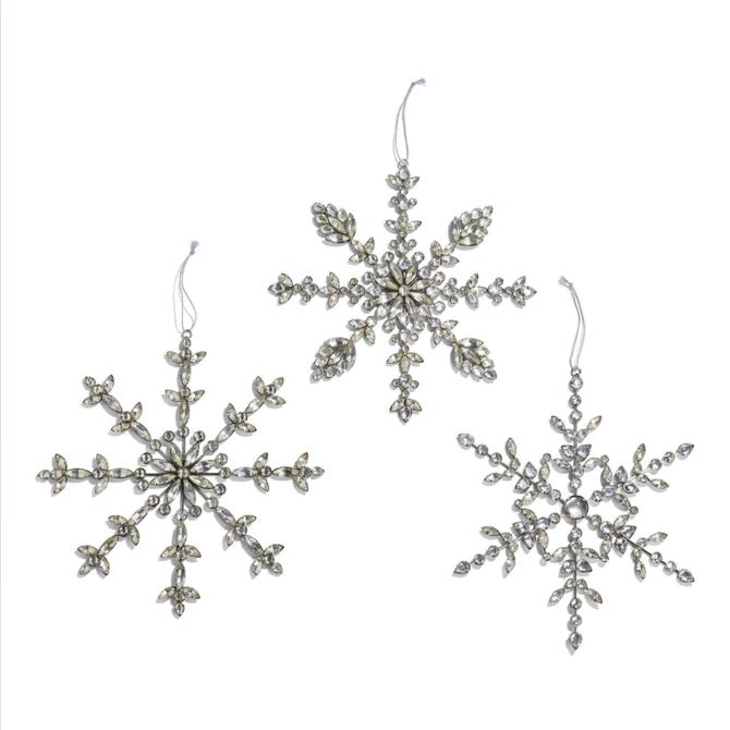 Two's Company Rhinestone Snowflake Hanging Dècor One of 3