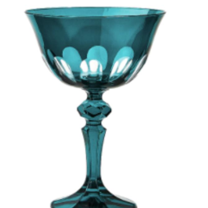 Sir Madam Rialto Glass Coupe Millicent (Dark Green) SET OF 2