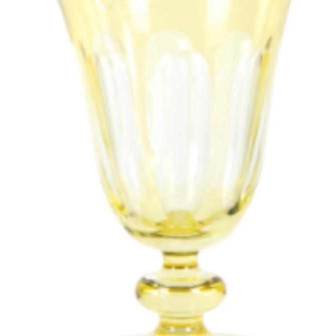 Sir Madam Rialto Glass Tulip Limoncello (Light Yellow) SET OF 2