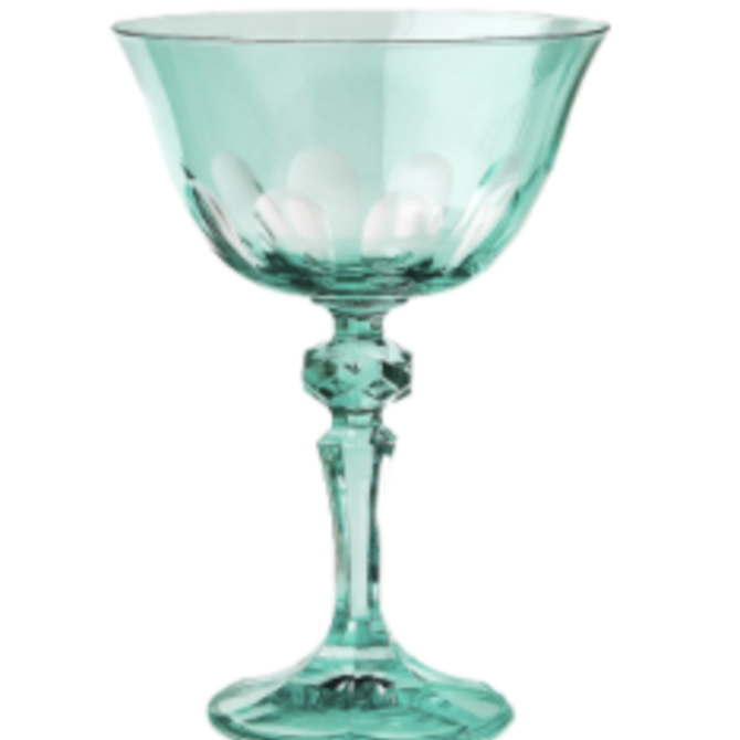 Sir Madam Rialto Glass Coupe Menthe (Light Green)- SET OF 2
