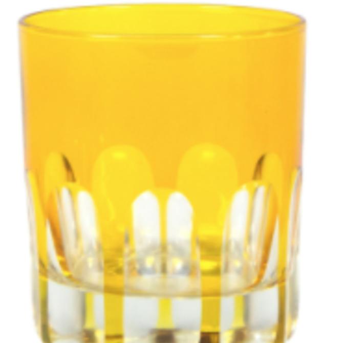 Sir Madam Rialto Glass Old Fashion Ginger (Dark Yellow)SET OF 2