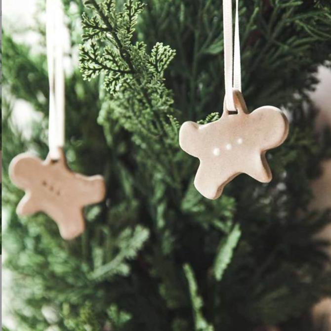 Farmhouse Pottery Baker's  Gingerbread Ornaments