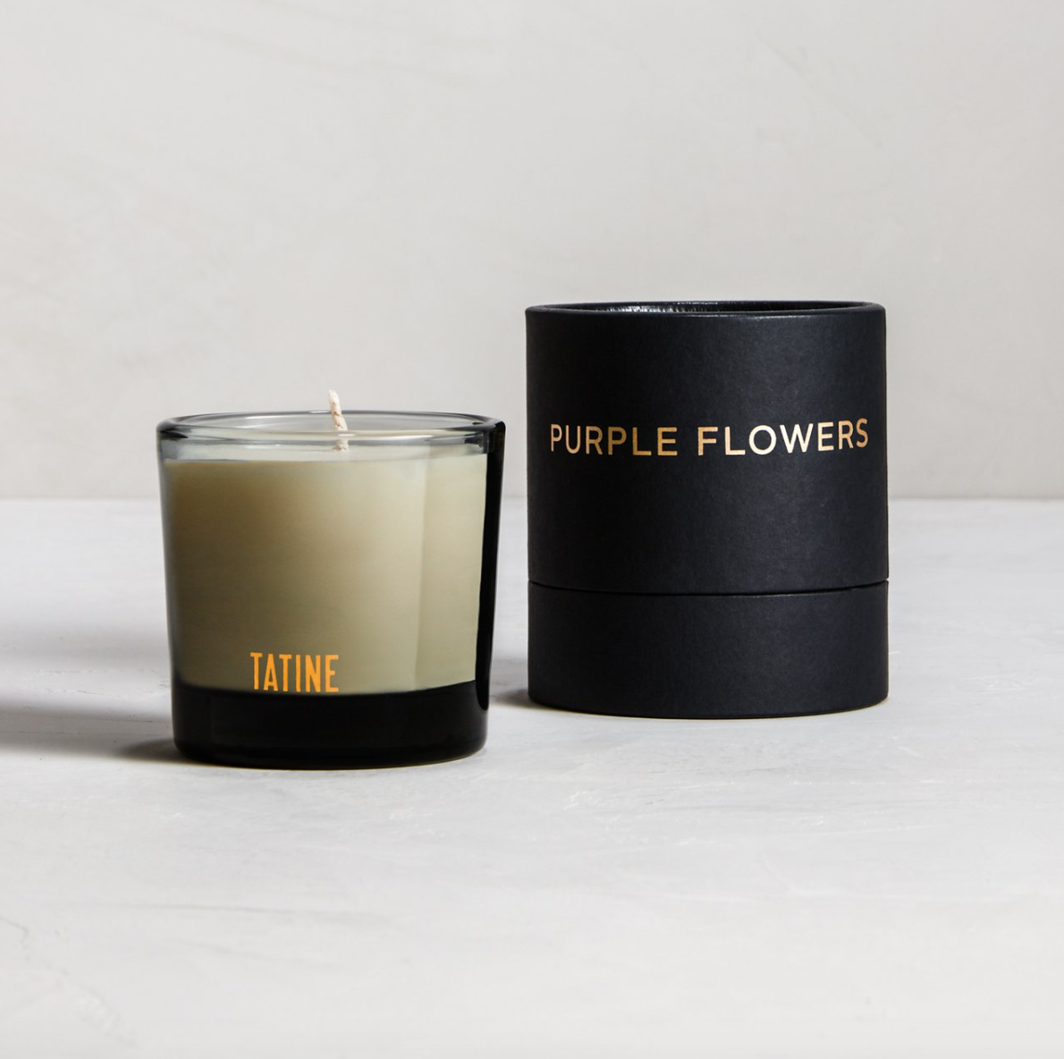 Tatine Purple Flowers Votive Candle