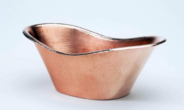 Sertodo Copper Nile Cradle Oval Copper Ice Bucket