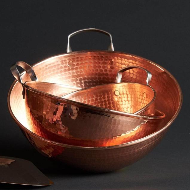 Sertodo Copper Copper Mixing Bowls 3 Bowl Set