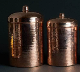 Sertodo Copper Copper Kitchen Canisters - Large Set, 2 Pieces