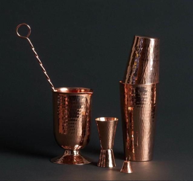 Sertodo Copper Essential Copper Mixologist Set - 4 Pcs