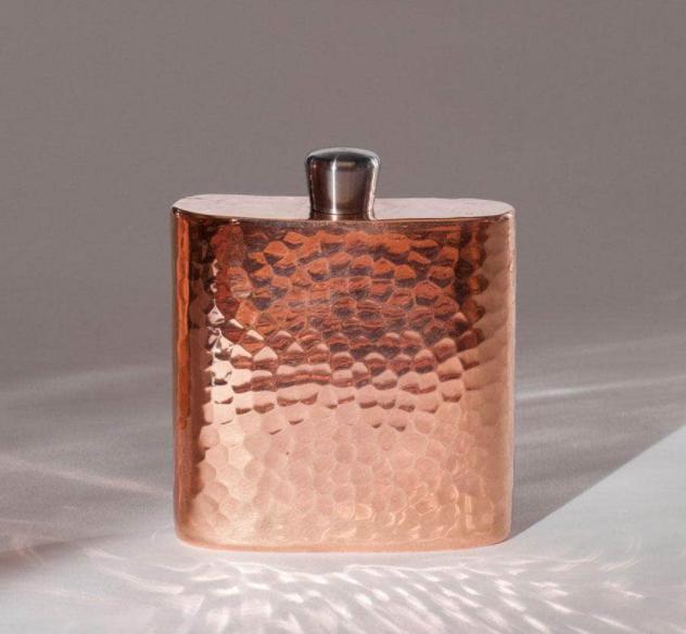 Sertodo Copper Espadín Copper Square Hip Flask