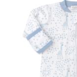 Kissy Kissy Speckled Giraffe Footie w/Zip  Light Blue 0-3Month