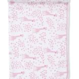 Kissy Kissy Speckled Giraffe Blanket Pink