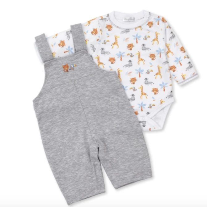 Kissy Kissy Jungle Fever Overall Set 3-6 Month