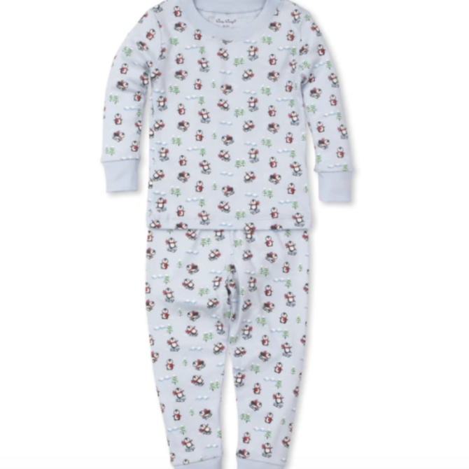 Kissy Kissy Slippery Slopes Toddler Pajama Set Blue - Size 4