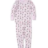 Kissy Kissy Slippery Slopes Pajama Set Pink 12-18 Month