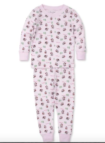 Kissy Kissy Slippery Slopes Toddler Pajama Set - Pink Size 4