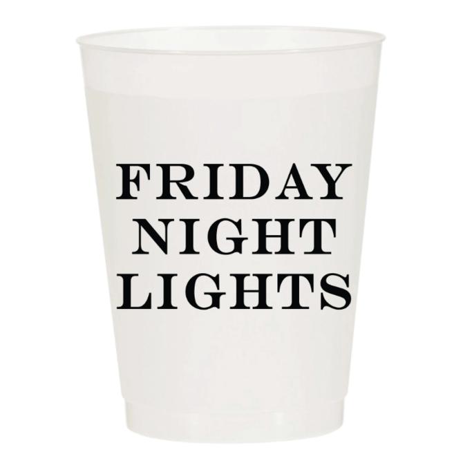 Sip Hip Hooray Friday Night Lights Reusable Cups - Set of 10