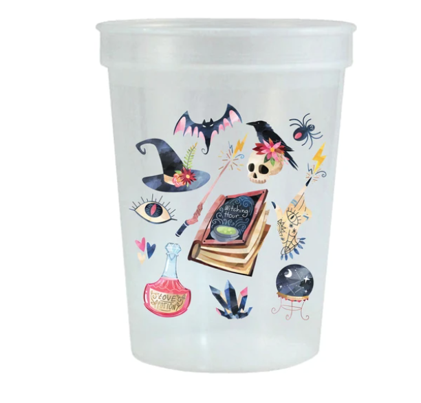 Sip Hip Hooray Witching Hour Reusable Stadium Cups - Set of 6
