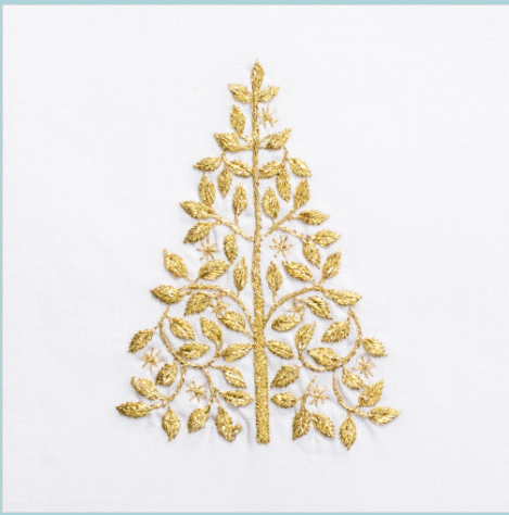 Henry Handwork Mod Tree Gold Hand Towel